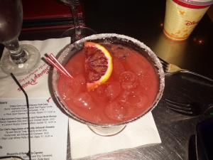 A Blood orange margarita