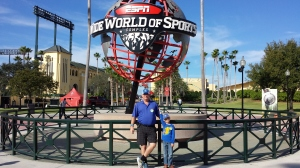 Marshall and Daddy at Wide World of Sports