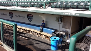 Marshall in the dugout.