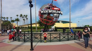 The required picture under the ball at Wide World of Sports!