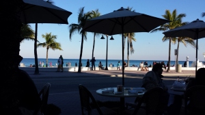 The view of Fort Lauderdale Beach from our dinner table!